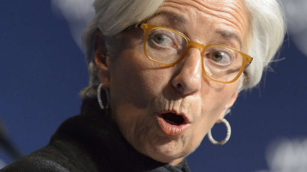 Christine Lagarde, Direktorin des Internationalen Währungsfonds (IWF)