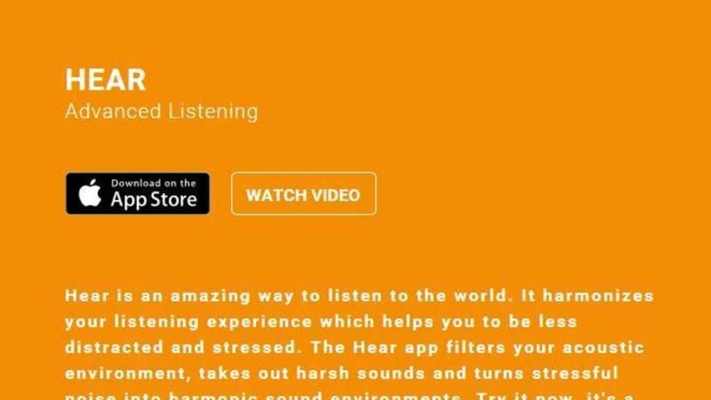 """Hear - Advanced Listening"" experimentiert mit Klängen. Screenshot: www.hearapp.io Foto:"
