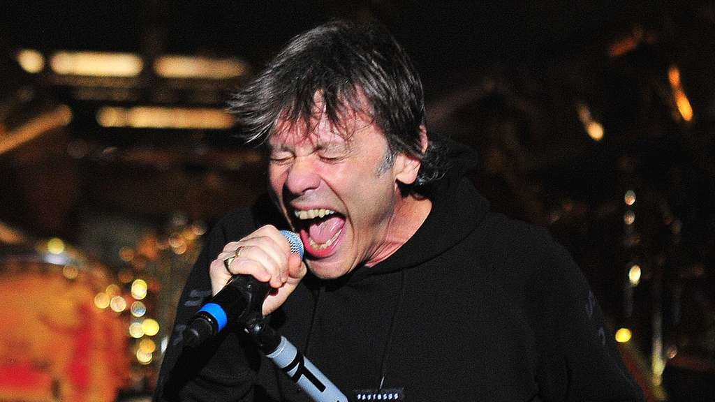 British band Iron Maiden in concert in Santiago