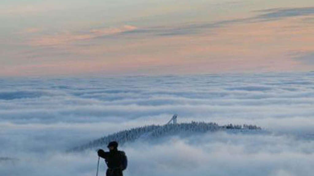 Harz Brocken Gipfel Winter Loipe Nationalpark