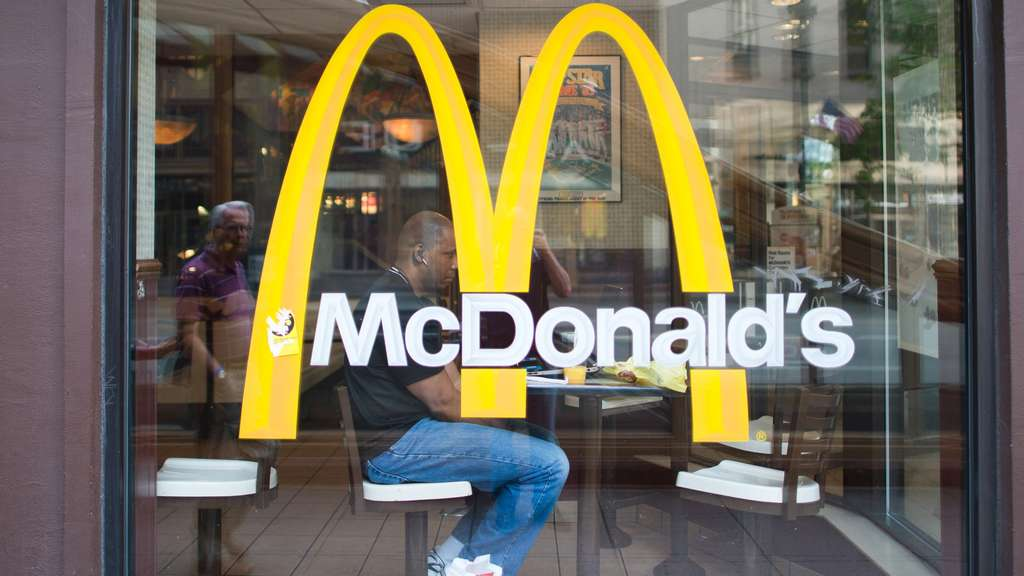 McDonald&#39s-Schaufenster