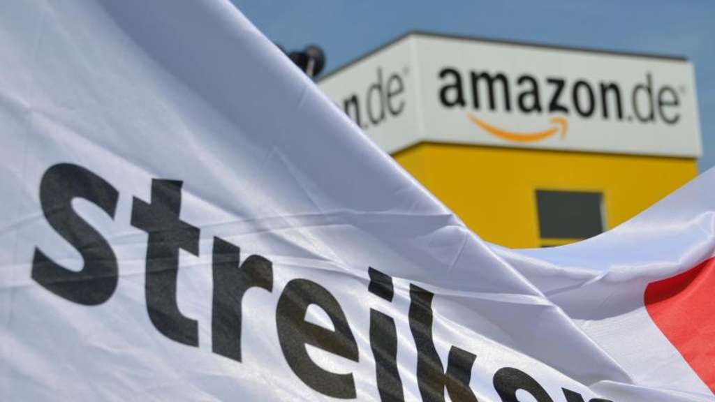 Erneut Streik an Amazon-Standorten in Bad Hersfeld. Foto: Uwe Zucchi/Illustration
