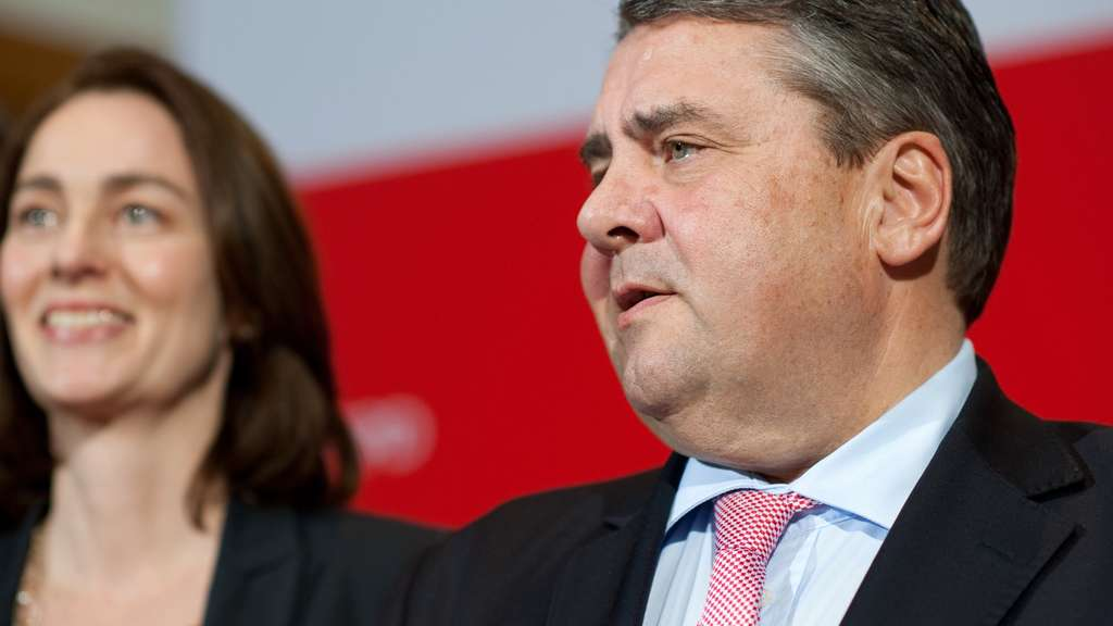 Sigmar Gabriel im Willy-Brandt-Haus.