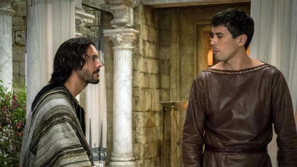 Jack Huston (l) als Judah Ben Hur und Toby Kebbell als Messala Severus. Foto: Philippe Antonello/Paramount Pictures and Metro-Goldwyn-Mayer Pictures Inc.