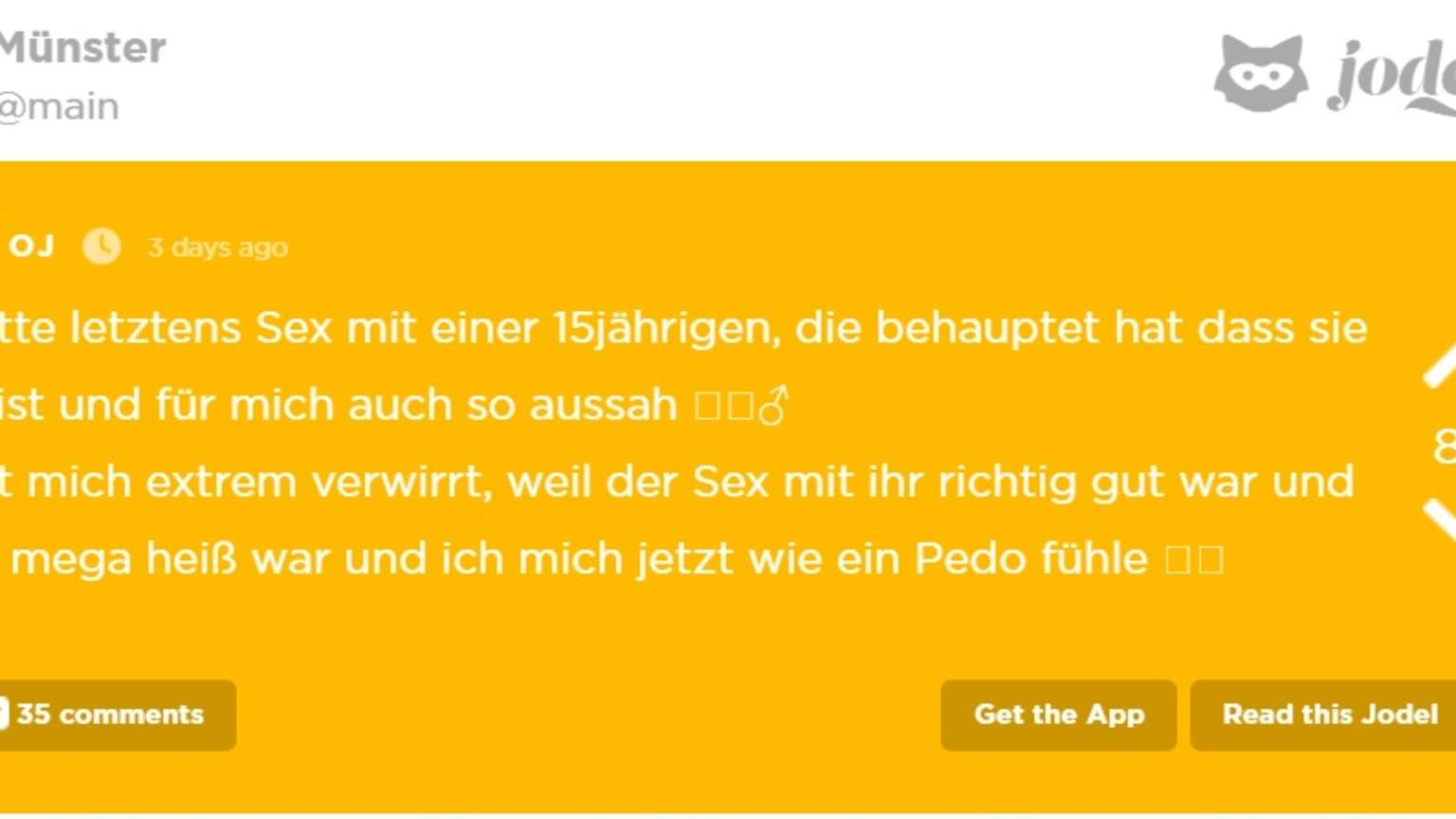 Münster: Mann bittet bei Jodel nach One-Night-Stand mit