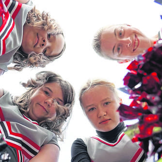 Cheerleader-Gruppe